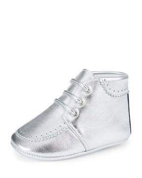 Gucci Metallic Leather Bootie, Infant
