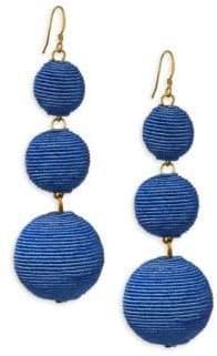 Kenneth Jay Lane Carnival Triple Drop Earrings/Denim