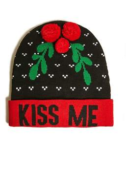 21men 21 MEN Men Kiss Me Graphic Beanie