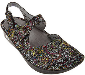 Alegria As Is Leather Perforated Closed-Toe Sandals - Jemma
