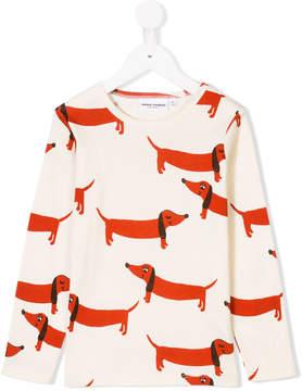 Mini Rodini dog print longsleeved T-shirt