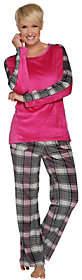 Cuddl Duds Ultra Plush Velvet FleecePajama Set