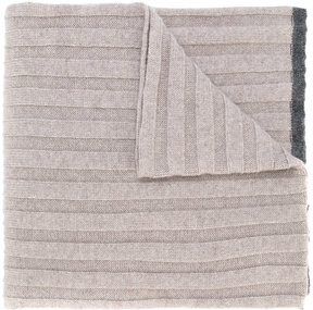 Brunello Cucinelli ribbed knitted scarf