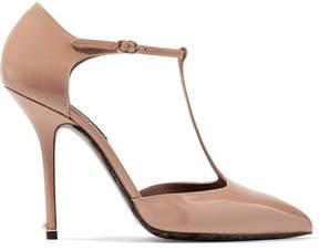 Dolce & Gabbana Patent-leather Pumps - Sand