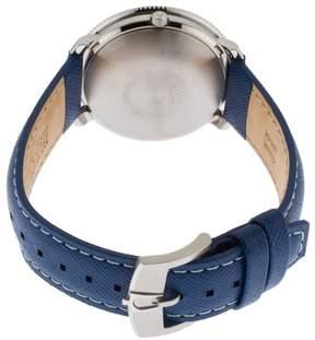 Bulova Accutron II Men's Moonview Blue Genuine Leather Contrast Stitch