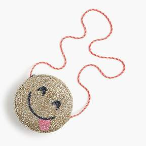 J.Crew Girls' glitter bag in yummy emoji
