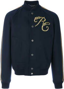 Roberto Cavalli embroidered varsity jacket