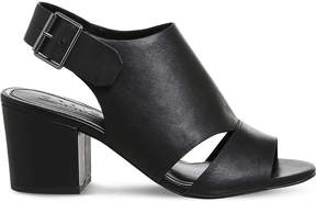 Office Mantra leather peep-toe sandals