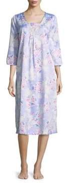 Carole Hochman Floral Print Nightgown