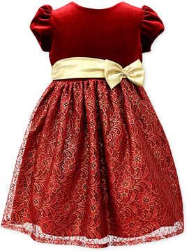 Jayne Copeland Velvet Foil-Lace Gown, Little Girls (4-6X)