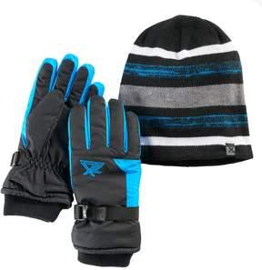 ZeroXposur Boys 4-18 Stealth Beanie & Gloves Set