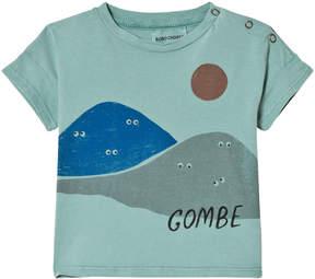 Bobo Choses Beryl Green Mountains Short Sleeve T-Shirt