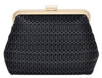 La Regale Laser Cut Faux Leather Pouch Clutch.