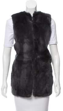 Allude Cashmere Rabbit-Trimmed Vest