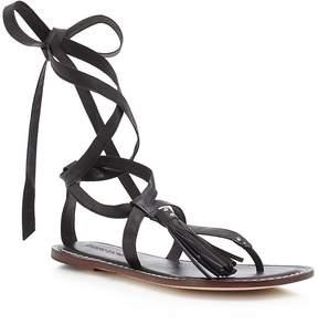 Bernardo Mosie Tassel Lace Up Flat Sandals