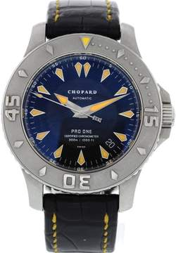 Chopard Pro One 8912 L.U.C Stainless Steel & Leather Date Automatic 43 mm Men