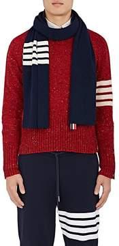 Thom Browne Men's Striped Rib-Knit Cashmere Scarf
