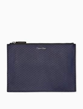 Calvin Klein scale textured zip pouch