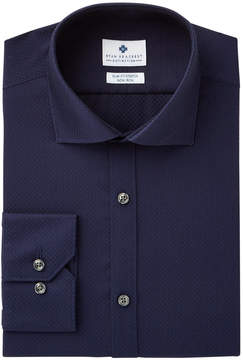 Ryan Seacrest Distinction Men's Slim-Fit Stretch Non-Iron Navy Convertible Cuff Dress Shirt, Created for Macy's