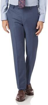 Charles Tyrwhitt Airforce Blue Slim Fit Cross Hatch Weave Italian Suit Wool Pants Size W34 L38