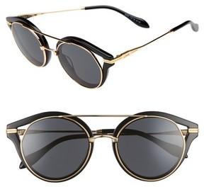 Sonix Women's Preston 51Mm Gradient Round Sunglasses - Black/ Black Solid