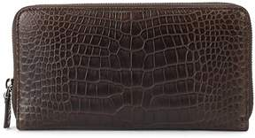 Bally Men's Mievyn Embossed Leather Zip-Around Wallet