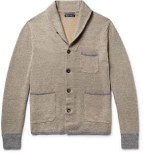 Alex Mill Contrast-Trimmed Shawl-Collar Loopback Cotton Cardigan