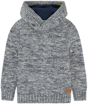 BOSS Loose stitch knit sweater with a hood