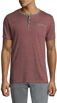 Alternative Apparel Men's Eco Jersey Striped Off-Shore Henley