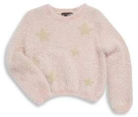 Imoga Toddler's, Little Girl's & Girl's Gold Star Fuzzy Sweater