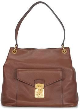 Miu Miu Rosewood Leather Hobo Bag