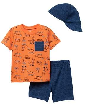 Petit Lem PL Baby by T-Shirt, Shorts, & Cap 3-Piece Set (Baby Boys 12-24M)