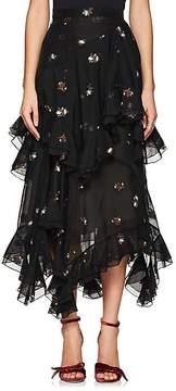 Erdem Women's Elsa Floral Cotton-Blend Midi-Skirt
