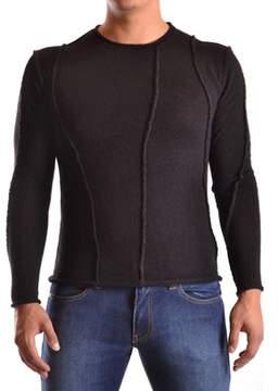 Isabel Benenato Men's Black Wool Sweater.
