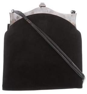 Pollini Suede Frame Bag