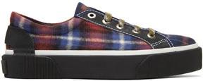Lanvin Multicolor Check Oxford Sneakers
