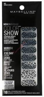 Maybelline Color Show Prints Mirror Effect Nail Stickers. 40, Urban Jungle.