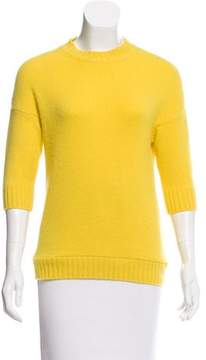 Christian Dior Cashmere Three-Quarter Sleeve Sweater