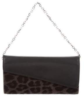 Christian Dior Diorissimo Rencontre Ponyhair-Trimmed Wallet