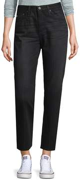 AG Adriano Goldschmied Women's High-Rise Tapered Jeans - Black, Size 28 (4-6)