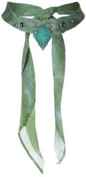 Dannijo Irene studded bandana choker