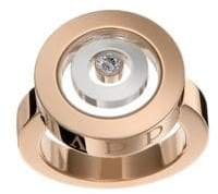 Chopard Happy Spirt Diamond, 18K Rose & White Gold Double Circle Ring