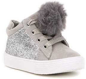 Kenneth Cole New York Girls Kam Kid-T Hi-Top Pom Sneakers