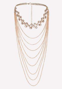 Bebe Draped Chain Crystal Choker