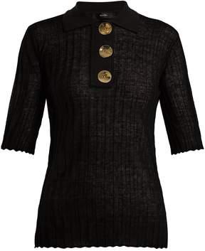 Ellery Sunshine short-sleeved linen-blend polo shirt