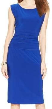 Nine West Women's Cap-Sleeve Ruched Sheath Dress
