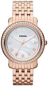 Fossil Emma Stainless Steel Quartz Women's Watch ES3186