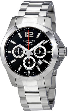 Longines Conquest Automatic Chronograph Black Dial Men's Watch