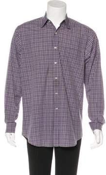 Ralph Lauren Purple Label Check Print Woven Shirt