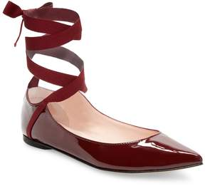 Repetto Women's Patent Leather Ankle-Strap Flats